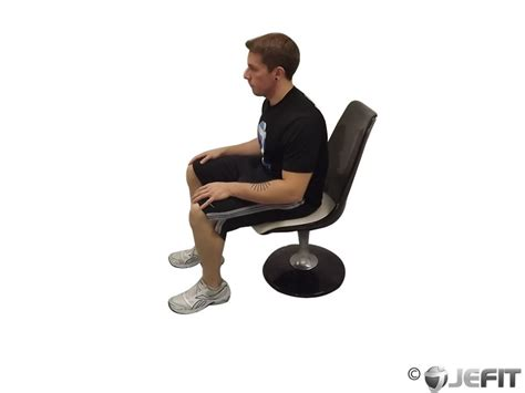 Chair Crunch Bodybuilding by Chair Stretch Exercise Database Jefit