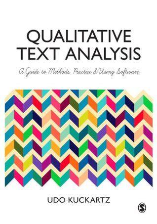 qualitative text analysis  guide  methods practice   software  udo kuckartz