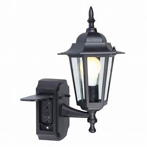 Flood light with power outlet : Wall lights design awesome outdoor light with outlet