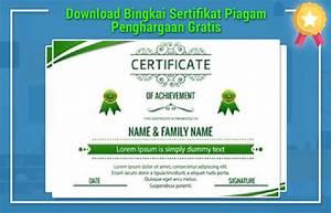 download bingkai sertifikat piagam penghargaan gratis With download template sertifikat word