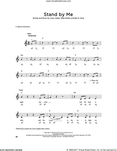 After the payment, you will be redirected to a page where you will be able to download the sheet music in pdf and midi format. King - Stand By Me sheet music for harmonica solo PDF