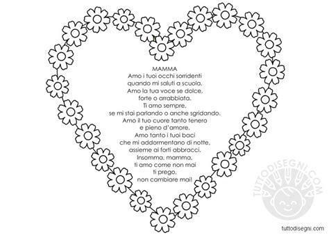 Cornici Per Poesie by Festa Della Mamma Poesia Con Cornice Tuttodisegni