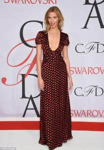 Karlie Kloss Wows Plunging Red Polka Dot Dress Cfda