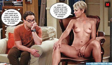 Kaley Cuoco Rubbing Pussy Big Bang Theory Naked Fake 001