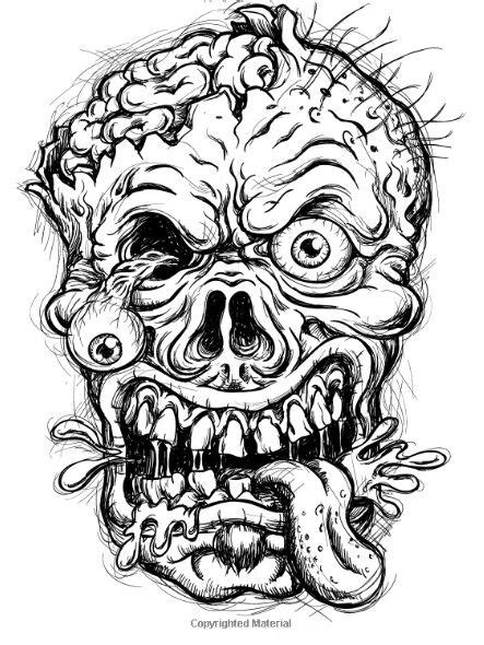 idea  dstewartumi  horror skull coloring pages