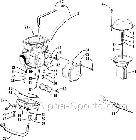 2004 Arctic Cat 250 Wiring Diagram Schematic by 2000 Arctic Cat 250 2x4 Atv Carb Assembly Problems