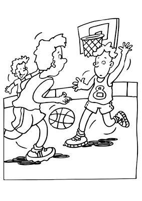 desenhos amigos jogando basquete colorir  pintar qdb
