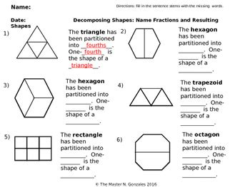 compose and decompose 2 d shapes using equal parts with