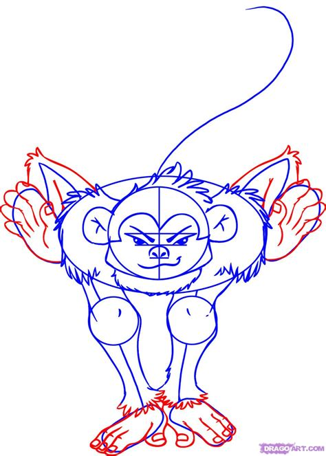 draw  cartoon monkey step  step cartoon