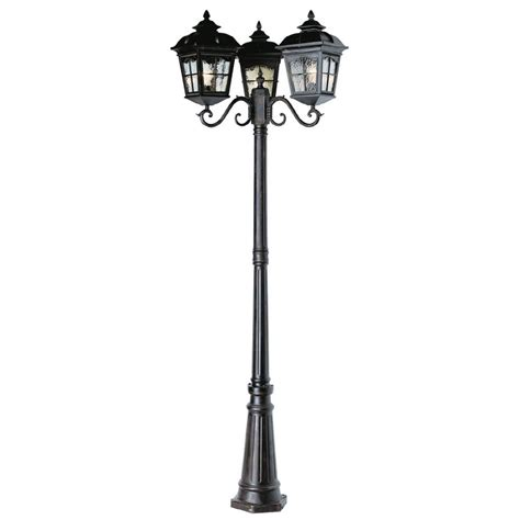 Shop Bel Air Lighting 3 Head Outdoor Post Lamp At Lowes On