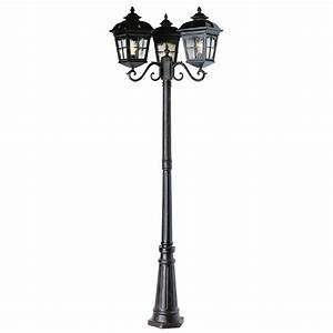 shop bel air lighting 3 head outdoor post lamp at lowes on With outdoor pole lights at lowes
