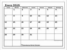 Calendarios enero 2019 LD