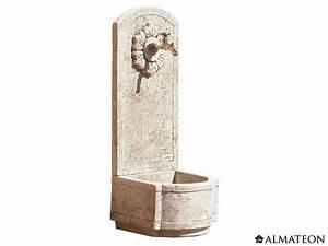 Fontaine D Exterieur En Pierre : fontaine murale tournesol en pierre 40 x 38 x 101 cm ~ Premium-room.com Idées de Décoration