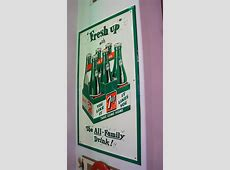 Killer oversized NOS1950's 7up 'Fresh Up with The AllF