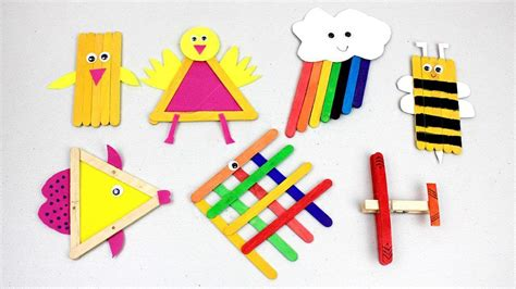 easy popsicle stick crafts  kids    home youtube