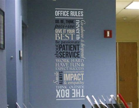 patient office rules version  wall decal standard