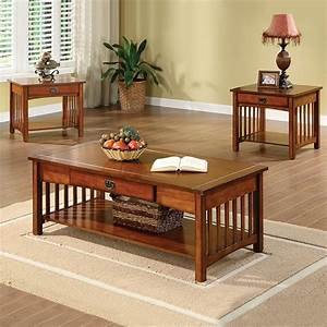furniture of america cm4245 3pk seville coffee table set With living room furniture sets with tables