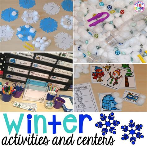 winter themed activities and centers snowman at 269 | Slide1 1