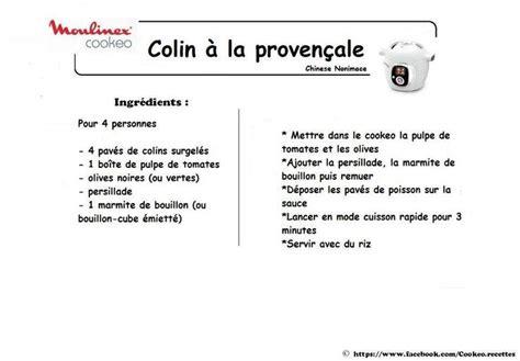 recette de cuisine provencale colin à la provencale recettes cookeo