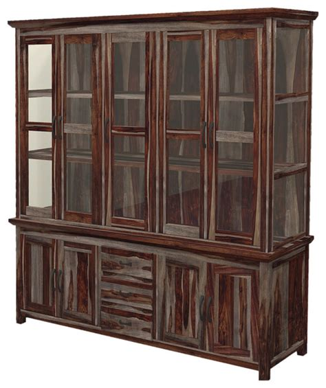 modern buffets and china cabinets texas modern rustic solid wood 5 door hutch buffet with