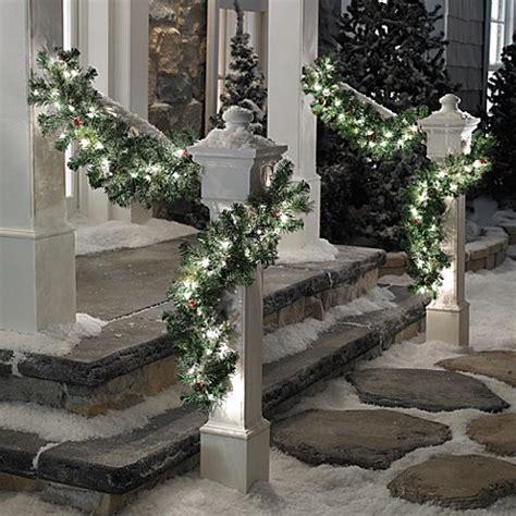 foot pre lit christmas garland set   www