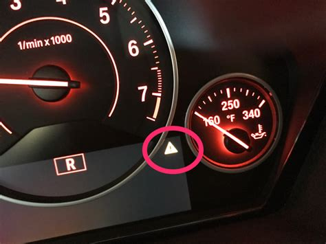 bmw  series warning lights exclamation mark