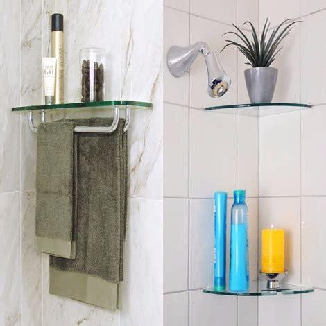 Glass Bathroom Shelves  Floating Shelves For Bathroom