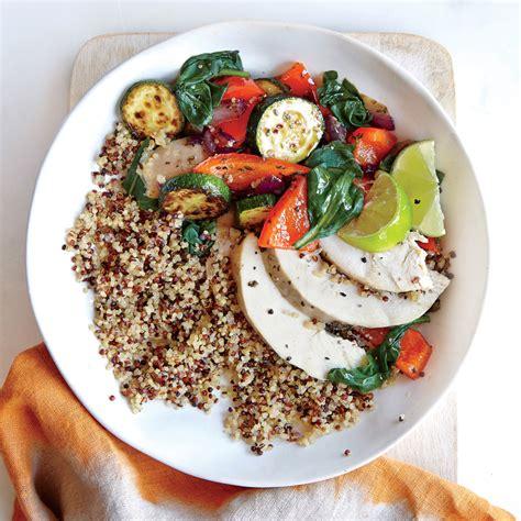 fresh vegetable quinoa bowl recipe myrecipes