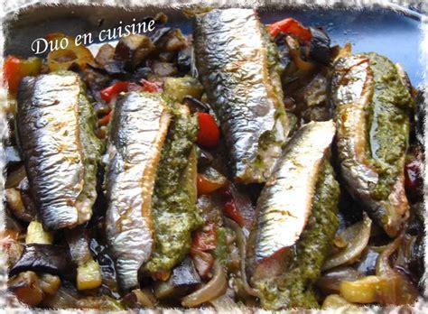 cuisiner les sardines sardines au pesto sur lit de légumes d 39 été duo en cuisine