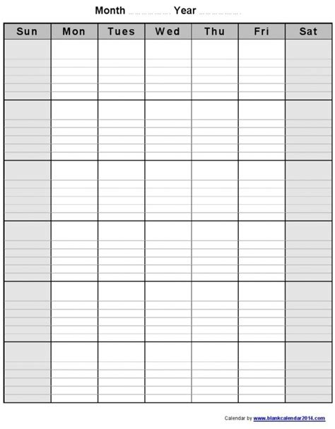 printeable lined monthly calendar calendar template