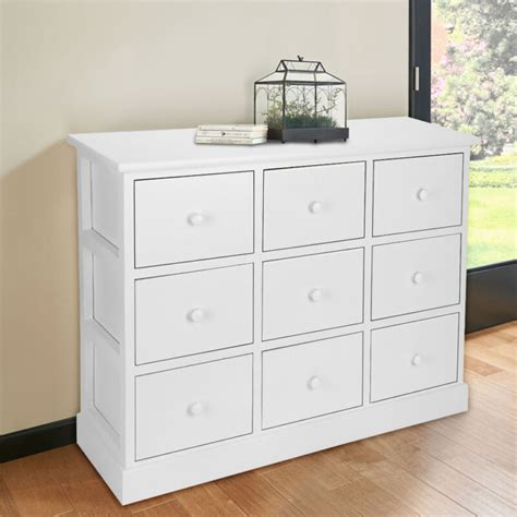 large chest  drawers bedroom furniture white wooden storage unit  drawer uk ebay