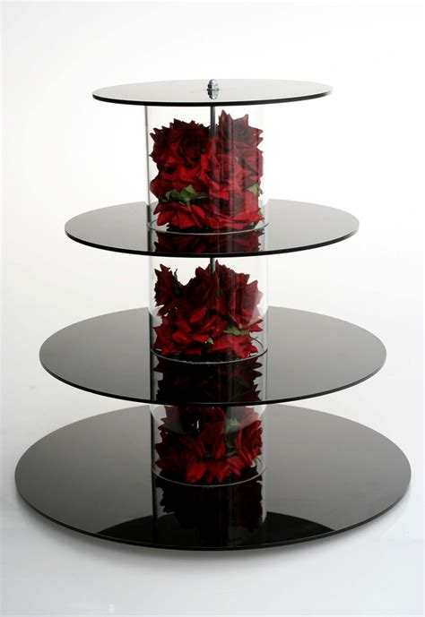 tier cupcake stand cupcake black cupcake stand with silk roses beautiful bespoke