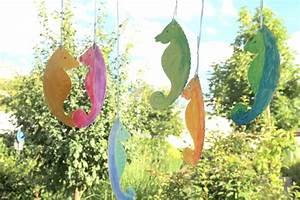 Sommer Basteln Kinder : basteln mit kindern seepferdchen aus papptellern ~ Orissabook.com Haus und Dekorationen