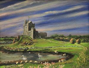 Dunguaire Castle Ireland Painting by Cecilia Brendel