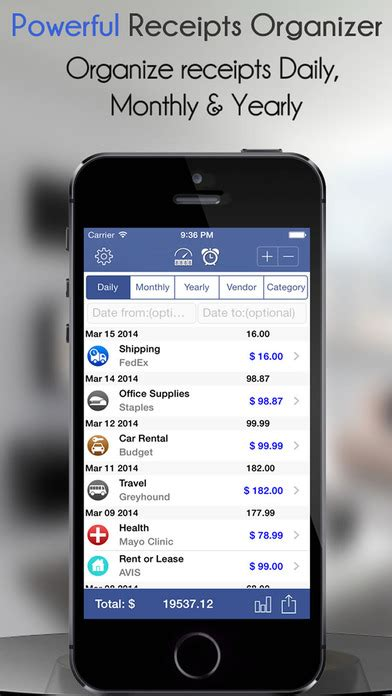 receipt scanner   expense reports apppicker