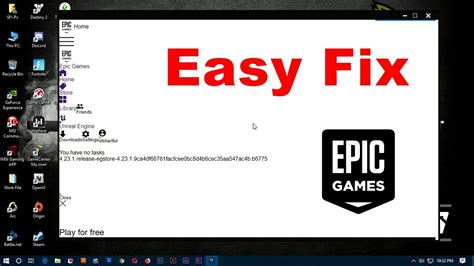fix epic games launcher white screen bug youtube