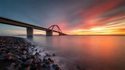 8k Sunset Bridge Wallpapers Resolution Backgrounds