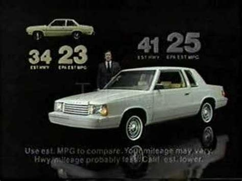 1981 Dodge Aries K Commercial - YouTube