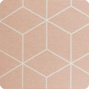 Tissu Rose Poudré : abat jour design pour lampe lampadaire ou suspension en tissu motif g ometrique pastel cubic rose ~ Teatrodelosmanantiales.com Idées de Décoration