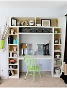 Look At All That Space For Lovely Books And Pretty Things Old Bungalow In California Gets Contemporary Makeover Keeps Rustic Home Design Built In Bookshelves With Desk Contemporary Medium Built In Bookshelf With Desk Home Design Ideas