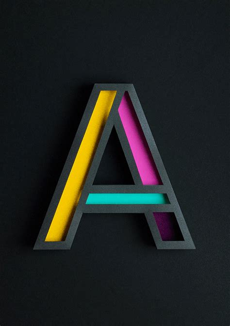 beautiful 3d typography of the letter a handcrafted with paper designtaxi com