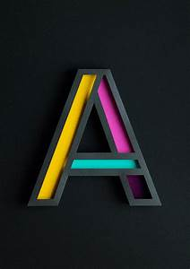 Beautiful 3D Typography Of The Letter 'A' Handcrafted With ...