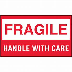 "3"" x 5"" Fragile - Handle with Care Labels, 500 labels per roll"