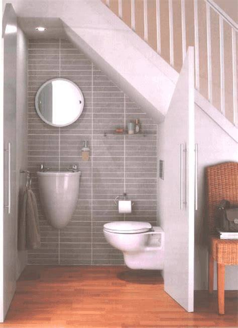 Water Closet Under Stairs  Small Spaces Pinterest
