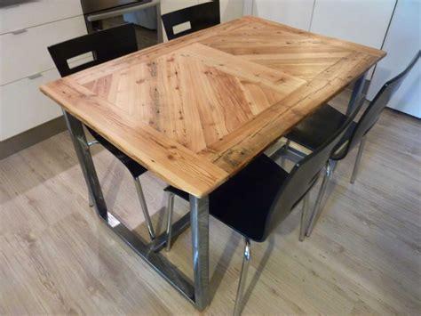 table de cuisine bois  alu idee de modele de cuisine