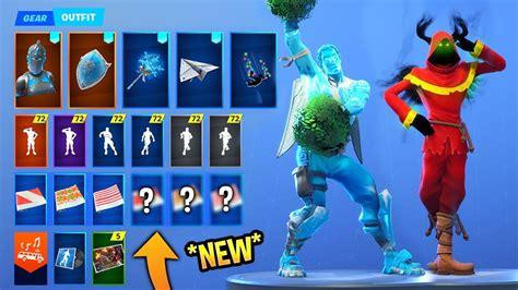 leaked fortnite skins emotes   elf