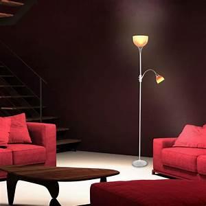 Stehlampe Brauner Schirm : standleuchte silber chrom deckenfluter stehlampe orange roter schirm standlampe ebay ~ Markanthonyermac.com Haus und Dekorationen