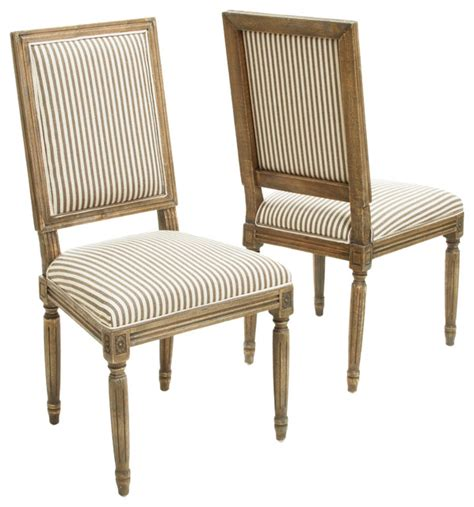 martin weathered stripe dining chairs set of 2