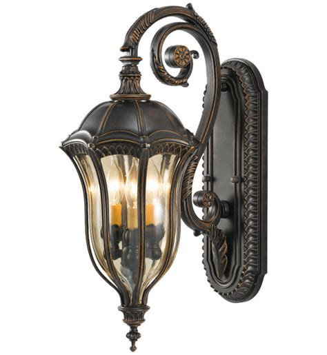 ls and lighting baton rouge feiss ol6002wal baton rouge walnut 3 light outdoor
