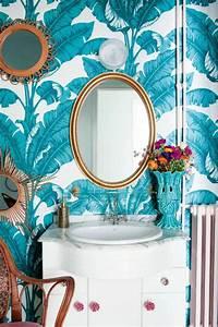 Papier Peint Bleu Canard : 1001 mod les de papier peint tropical et exotique ~ Farleysfitness.com Idées de Décoration